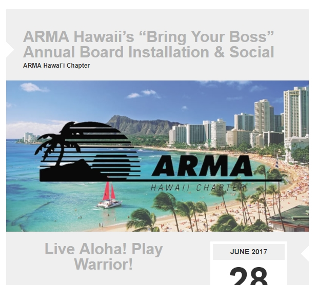 ARMA Hawai`i Member Newsletter