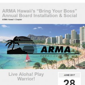 ARMA Hawai`i Event Newsletter